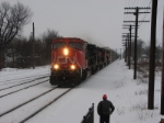 CN 5682 Leads a freight west on the GTW